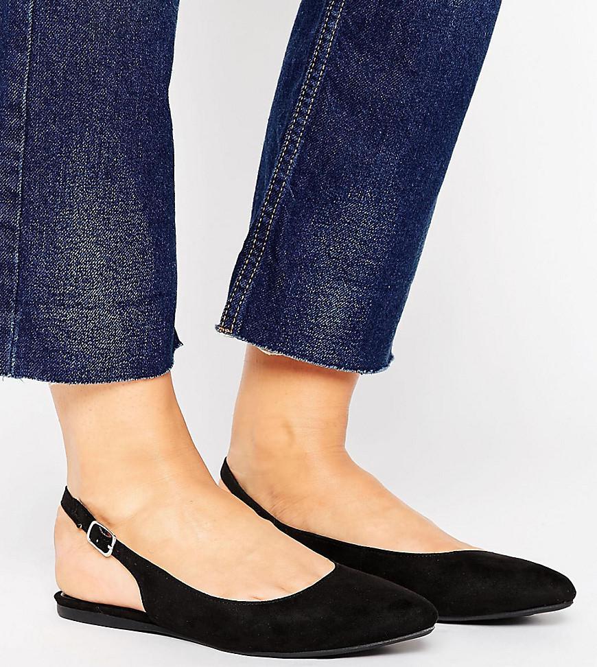 Black Suedette Shoes Strap