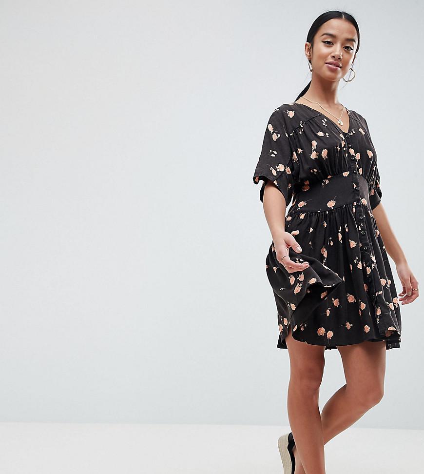 ASOS DESIGN Petite ultimate t-shirt dress in leopard print - Multi Asos Petite Ha91cTE