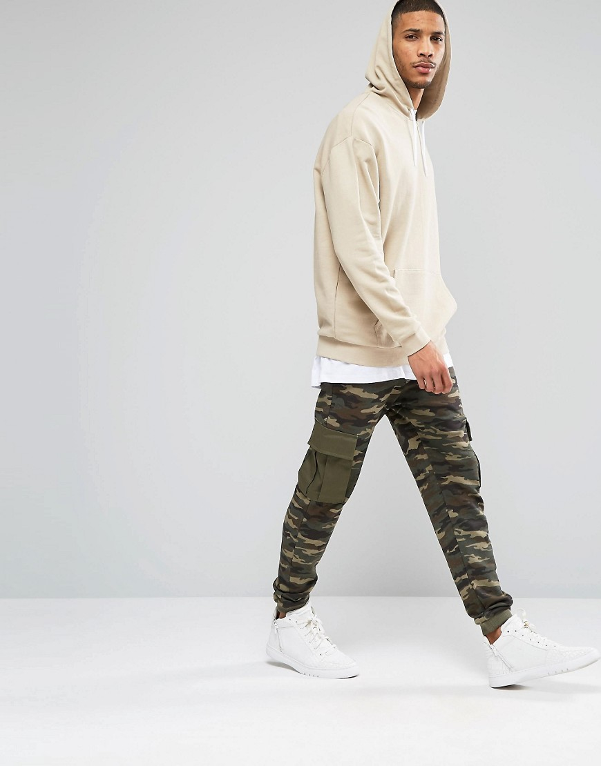 3f5ab57a6 ASOS Oversized Hoodie In Beige in Natural for Men - Lyst