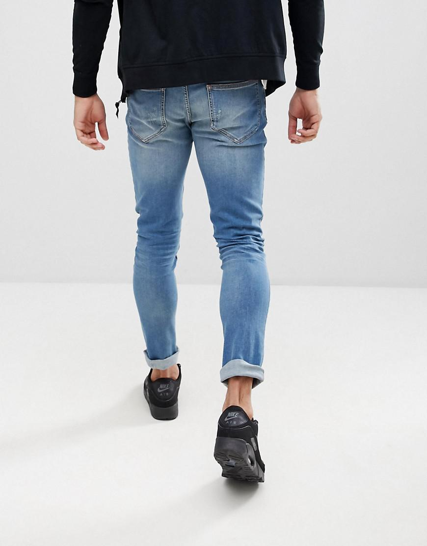 Moschino Fit Jeans Love In Lyst Skinny Midwash Blue With 80wNOPkXn