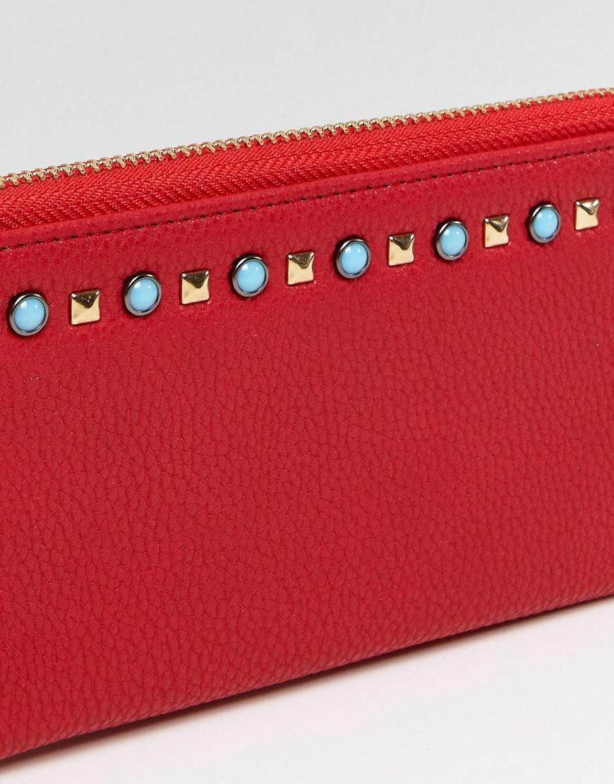 Red Purse with Pearl Embellishment - Red Yoki Fashion M0lZdV