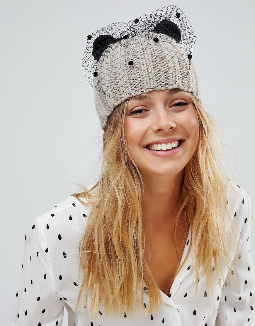 Knit Cat Ear Hat in Navy - Navy Helene Berman oXPIOvNsk3