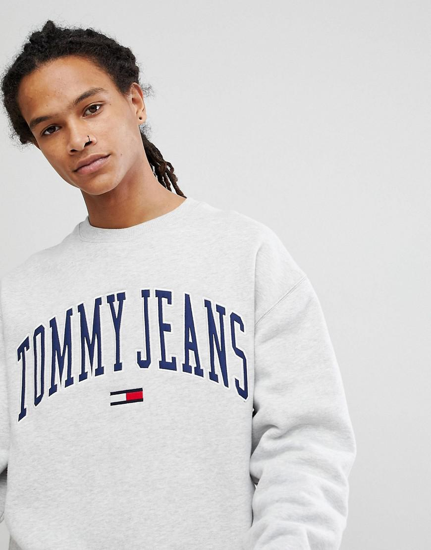5821b3a5 Hilfiger Denim Tommy Jeans Collegiate Capsule Sweatshirt In Grey in ...