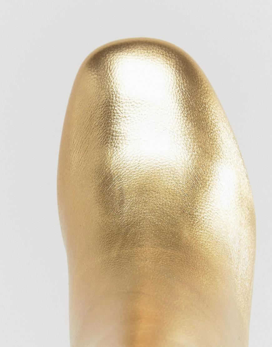4e67c6872 ASOS Rachelle Heeled Ankle Boots in Metallic - Lyst