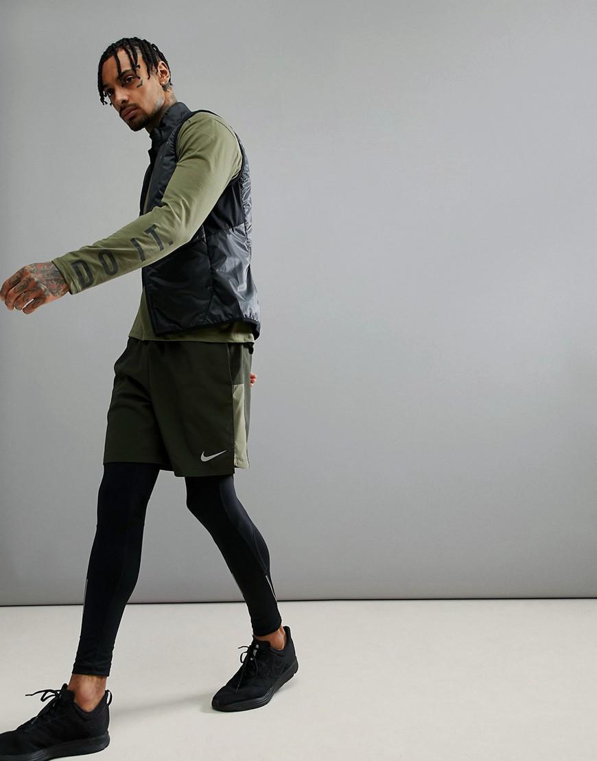 Flex Challenger 7 Inch Shorts In Khaki 856838-355 - Green Nike ZQAeJIpCD