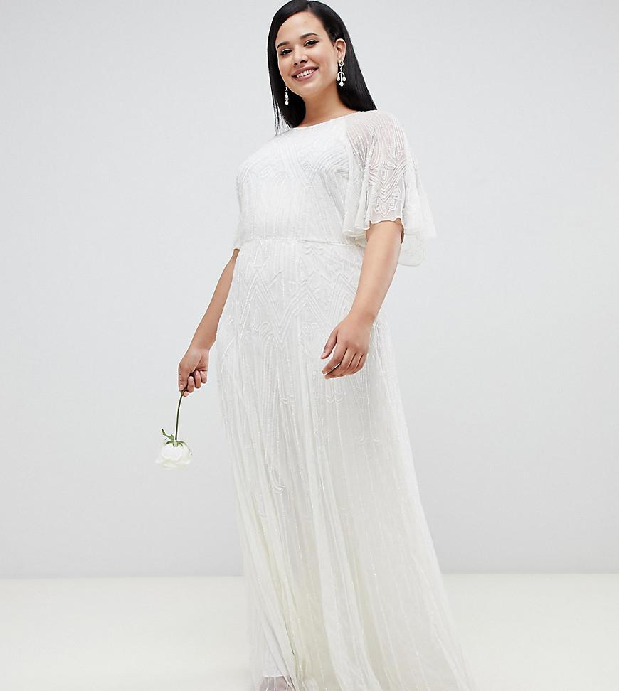d48c8809fed8f Lyst - ASOS Asos Edition Curve Deco Embellished Wedding Dress in White