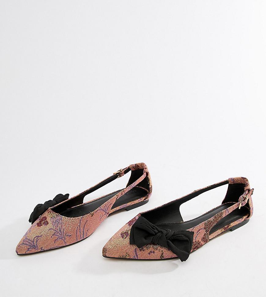 09441dce42ba Lyst - ASOS Wide Fit Lovelier Ballet Flats in Pink