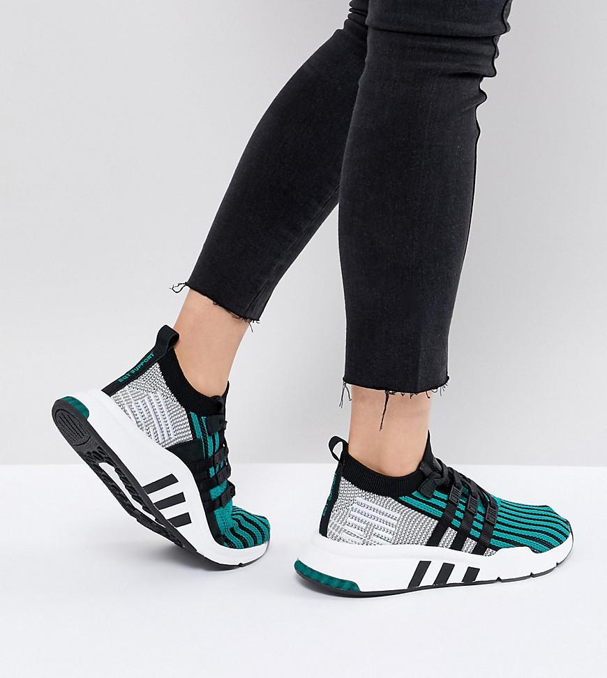 Adidas Originals EQT de Apoyo de mediados de ADV primeknit formadores en verde en