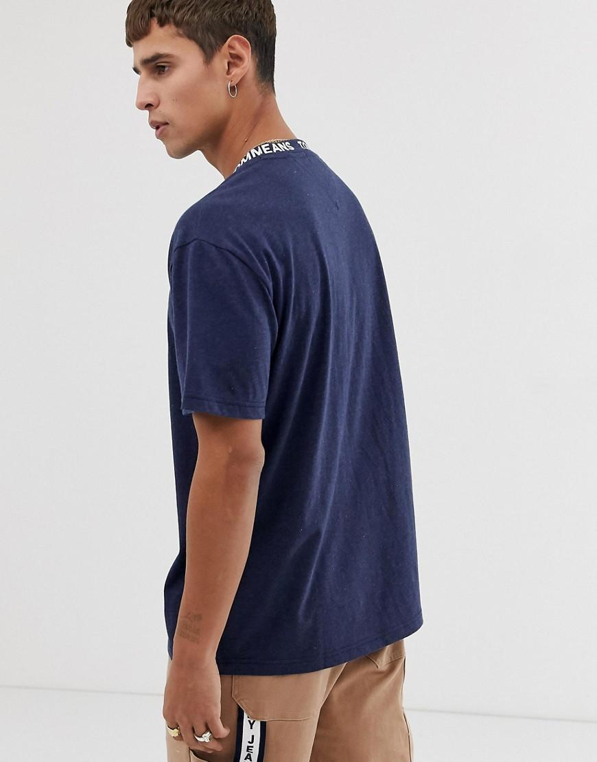 36d5eff7 Tommy Hilfiger Relaxed Fit T-shirt With Neck Collar Taping In Navy in Blue  for Men - Lyst
