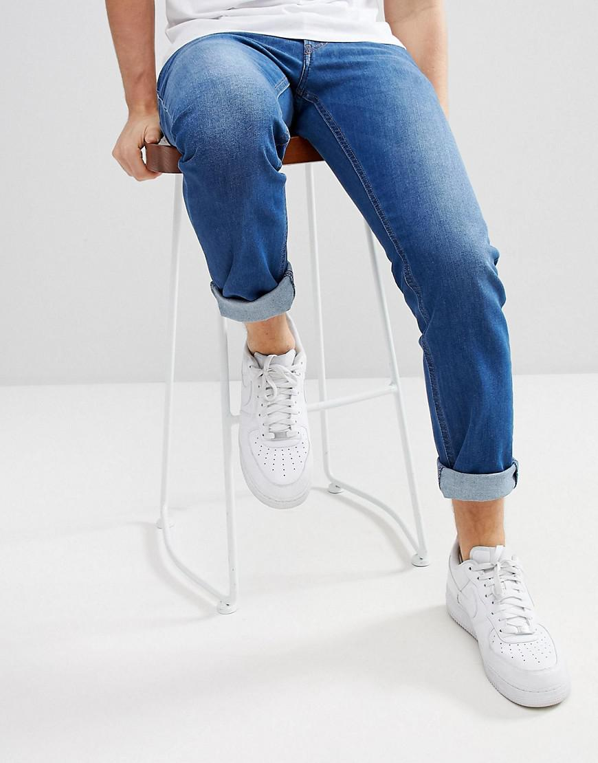Thommer Tapered Jeans in Light Wash Blue - Light wash Diesel SSxhkYgEXR