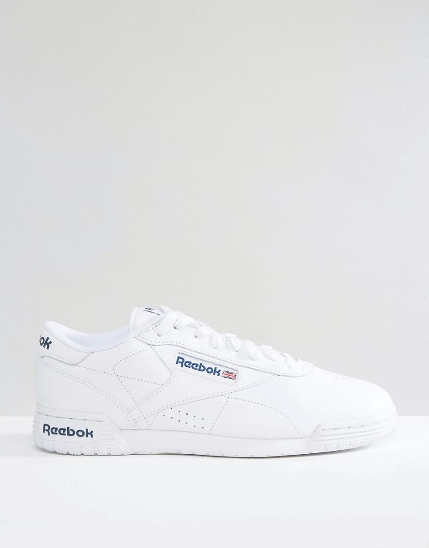 4eccfb9cf928 Reebok Ex-o-fit Leather Trainers In White Ar3169 in White for Men - Lyst