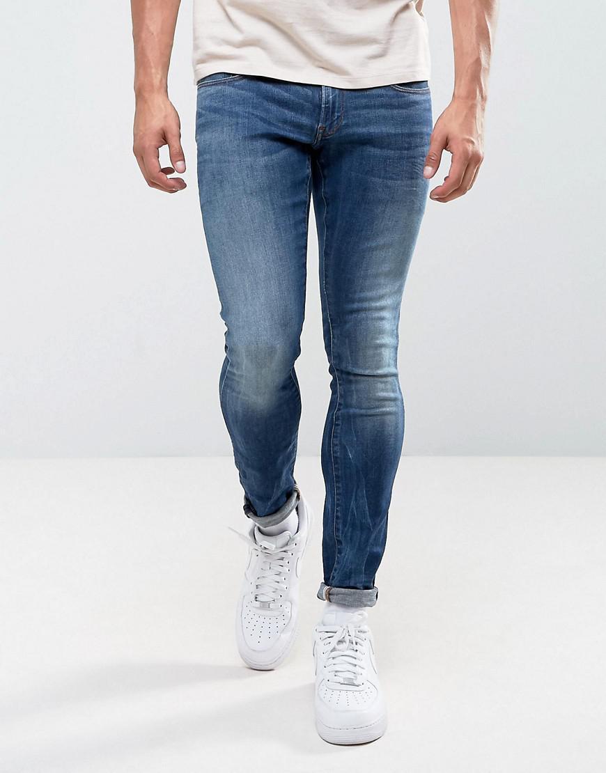 fa57681f808 G-Star RAW 3301 Deconstructed Super Slim Jeans Medium Indigo Aged ...