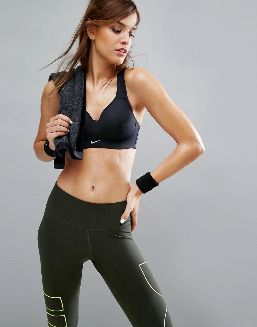 6fd9e49d97daa Nike Pro Rival Full Support Racer Back Gym Bra In Black in Black - Lyst