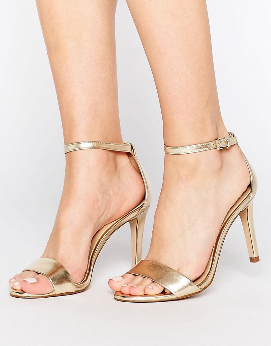 8ceba3924f8a Lyst - ALDO Camy Gold Metallic Strap Sandals in Metallic