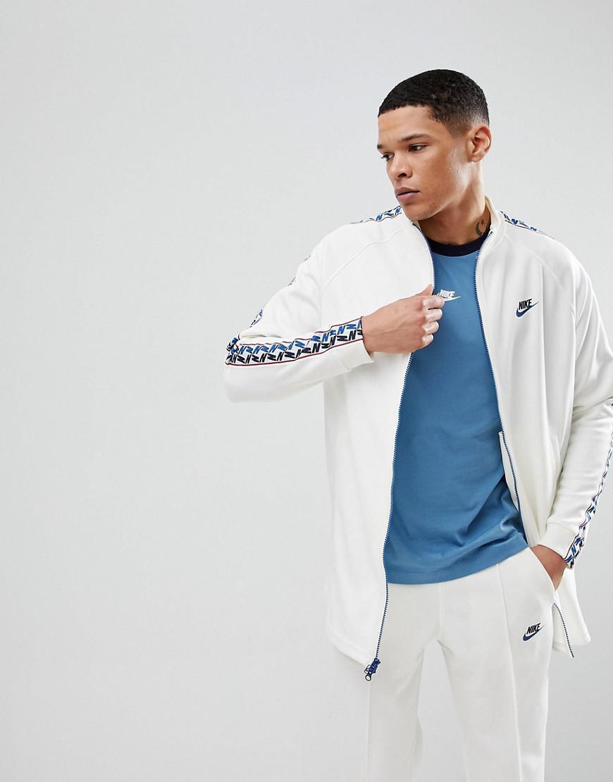 Nike Track Jacket With Taped Side Stripe In White Aj2681-133 in ... a73da78cb