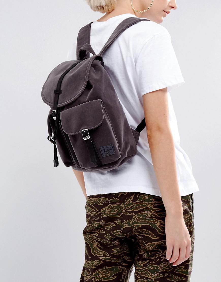 3121e4e8ae Lyst - Herschel Supply Co. Velvet Mini Dawson Backpack in Gray