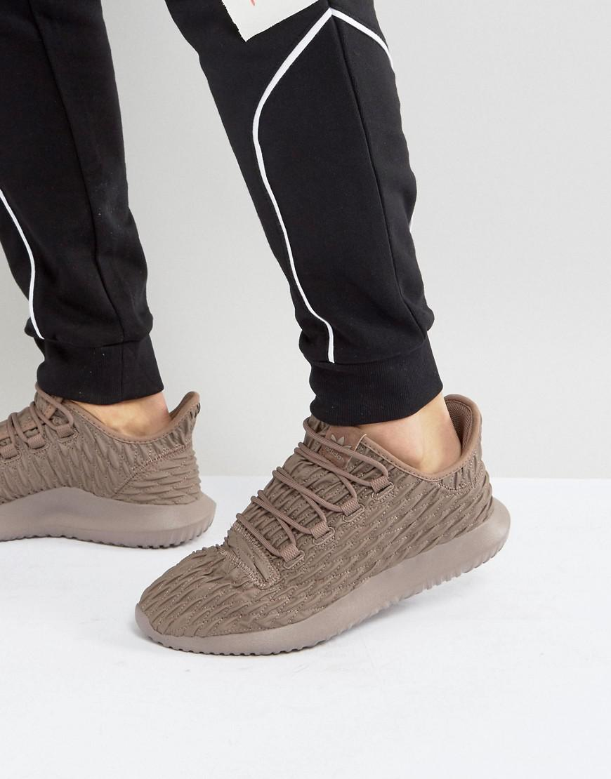 new concept cb878 20083 adidas Originals Tubular Shadow Sneakers In Brown Bb8974 in ...