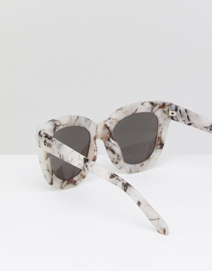 e01cc89556c Lyst - Quay Sugar And Spice Marble Frame Sunglasses in Pink