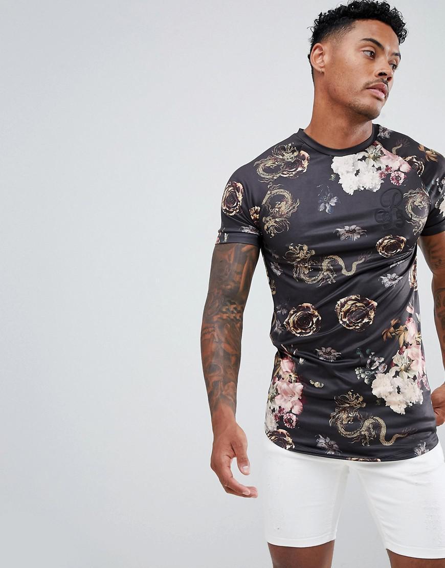 f12216c26e3 Lyst - T-shirt effet serpent River Island pour homme en coloris Noir
