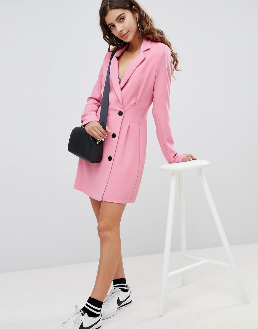 517105f8c8c32 Bershka Tailored Blazer Dress in Pink - Lyst
