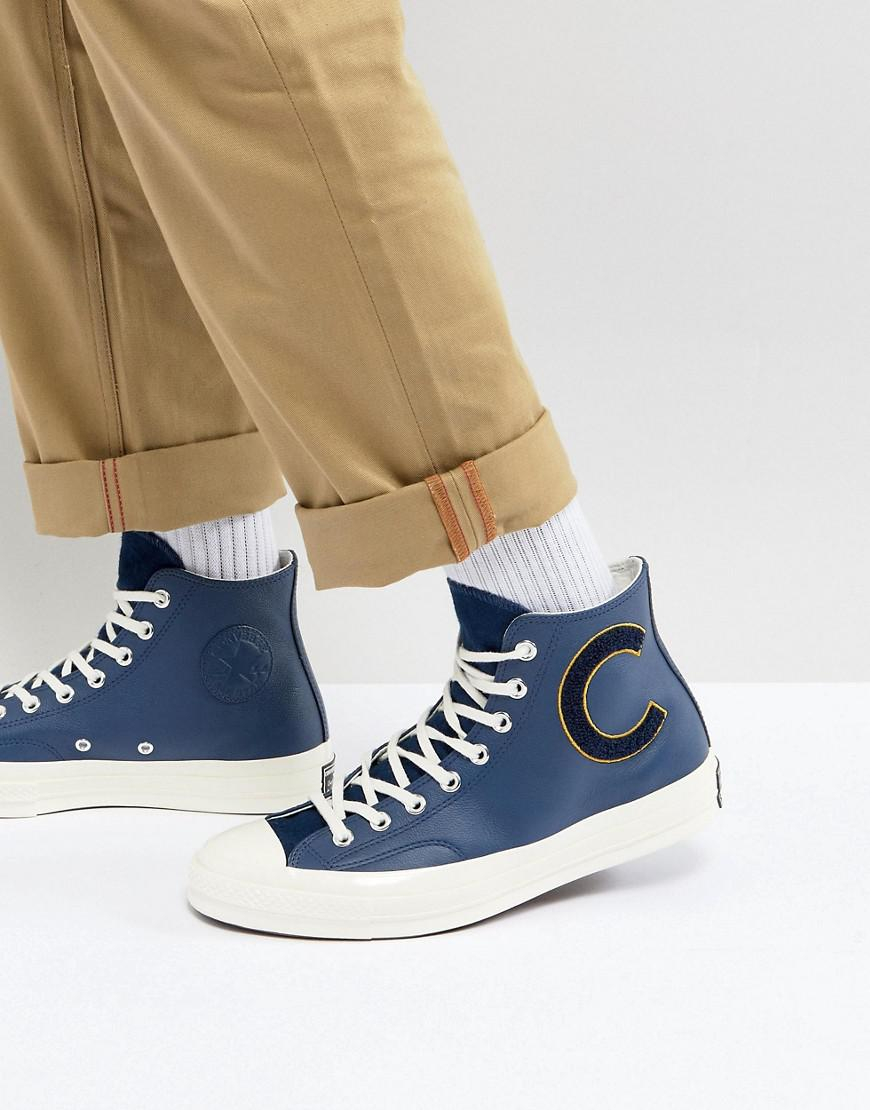 3a31dd8a32ce23 Converse Chuck Taylor All Star 70 Hi Plimsolls In Navy 159678c in ...