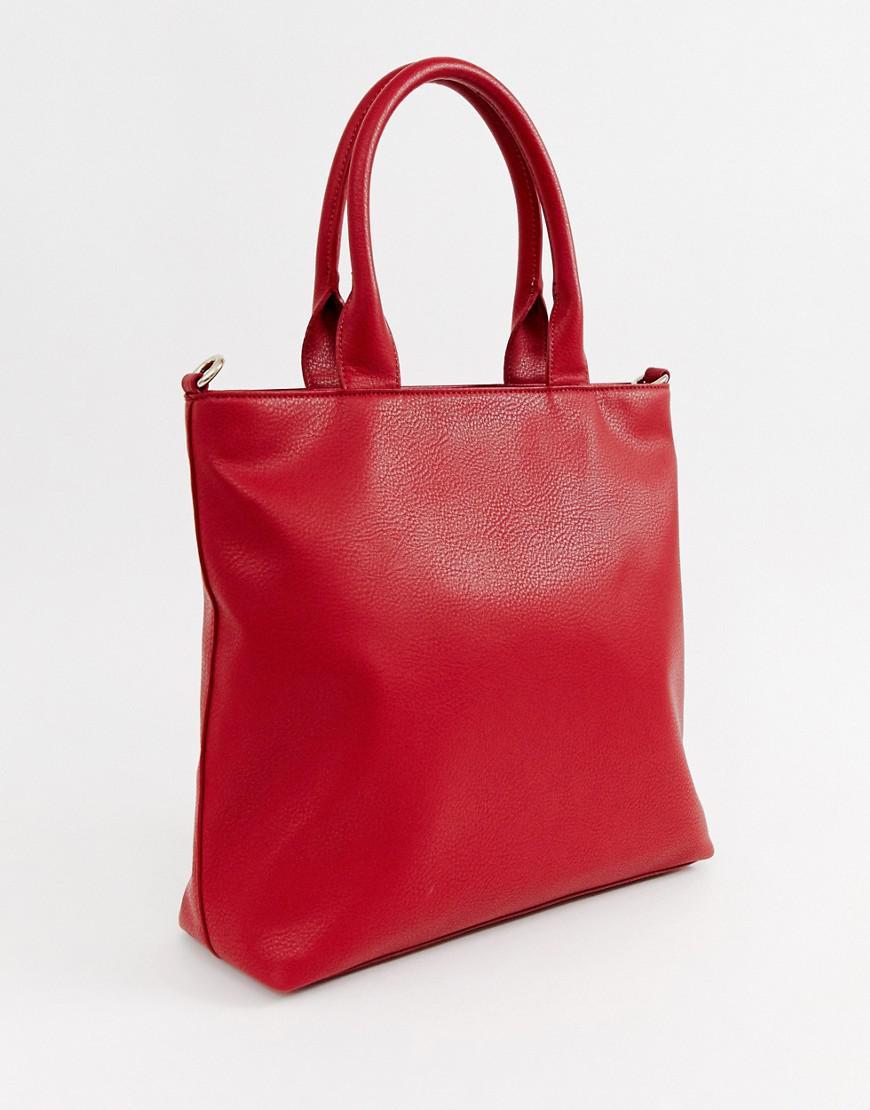 8f1b868de534 Versace Jeans Logo Shopper Bag in Red - Lyst
