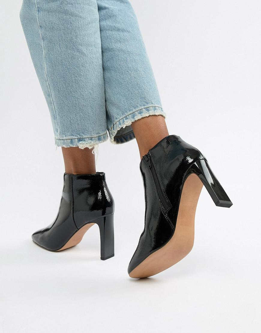 dbcdc0b5ec3 Lyst - ASOS Enlighten Patent Ankle Boots in Black