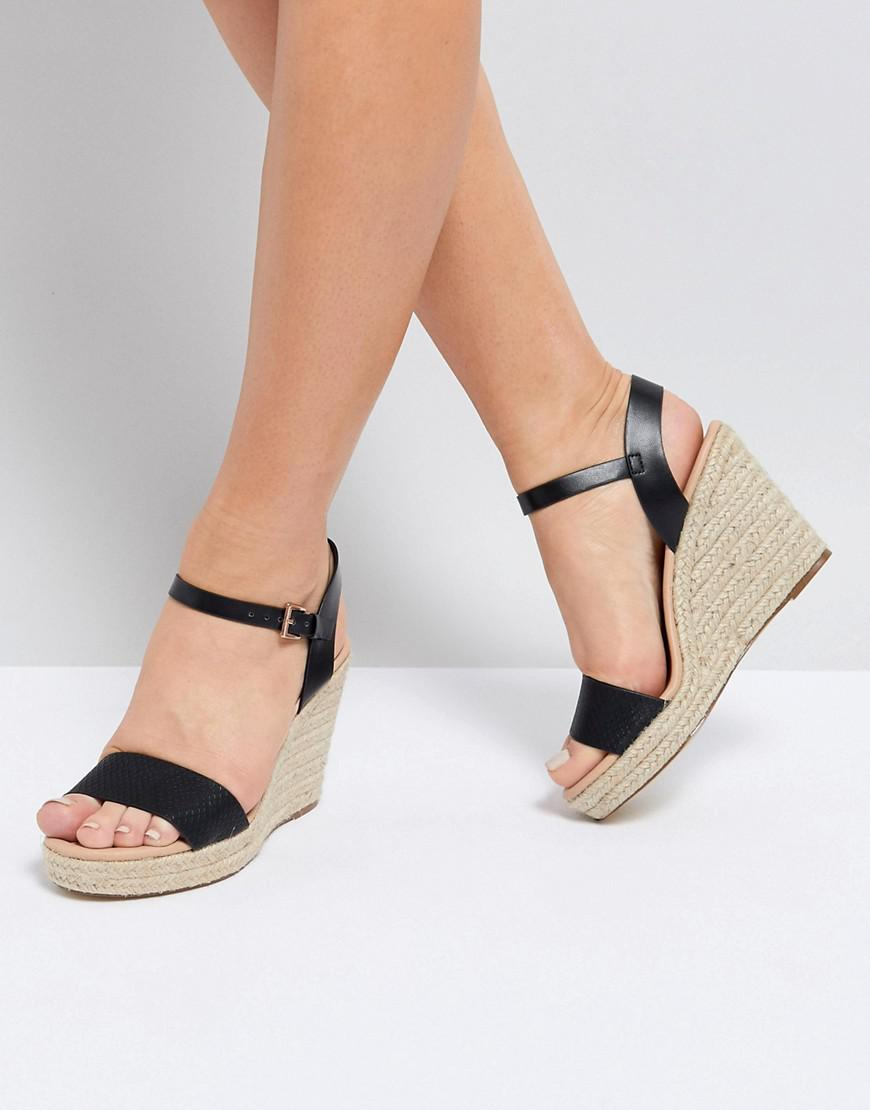 60c7026558a5 Miss Kg Paulina Wedge Sandals in Black - Lyst