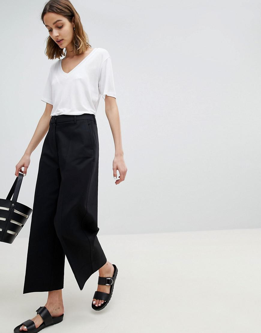 Wide Leg Trousers - Black Selected Low Shipping For Sale vP11kKOw