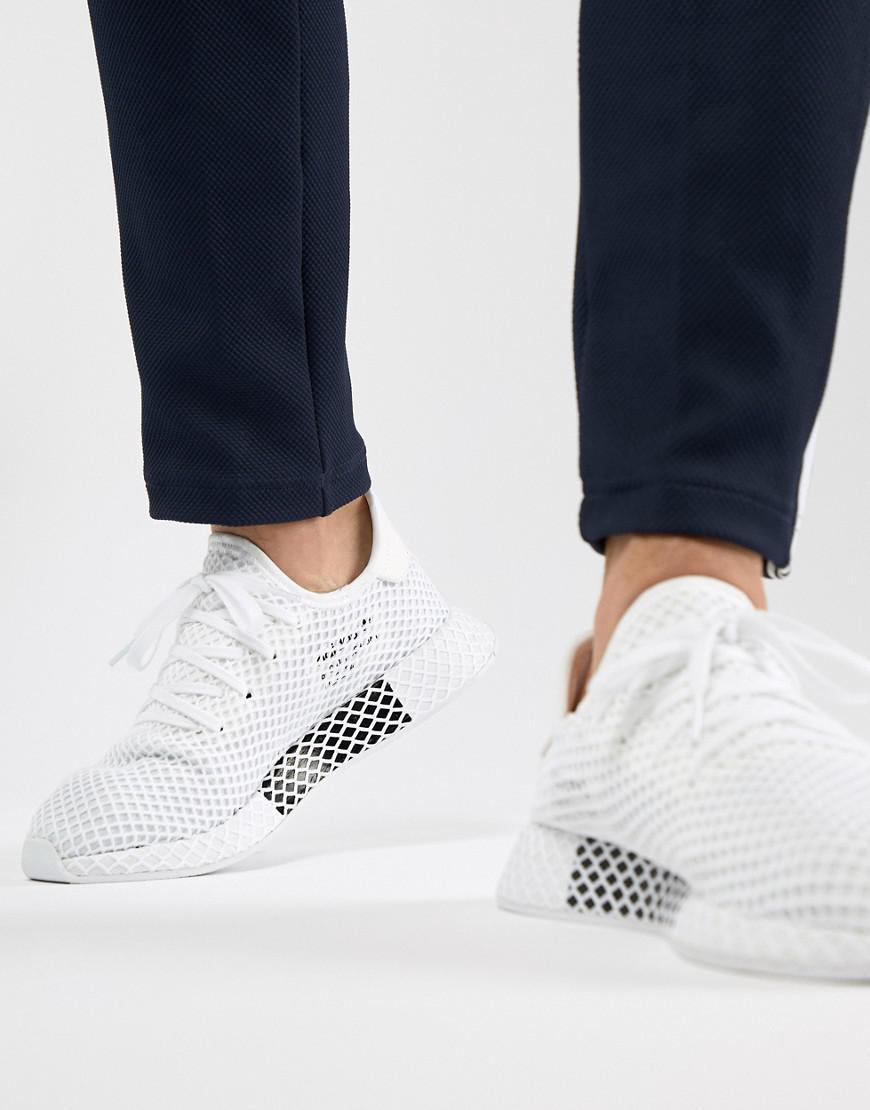 a71d7c49f53377 Adidas Originals - Deerupt Runner Sneakers In White Cq2625 for Men - Lyst.  View fullscreen