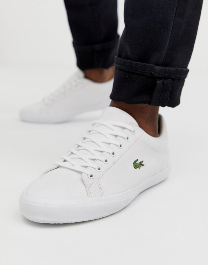 b092d4202 Lacoste Lerond Trainers In White Canvas in White for Men - Lyst