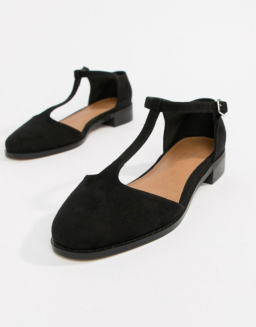 4234a61962fc4 Lyst - ASOS Mira Flat Shoes in Black