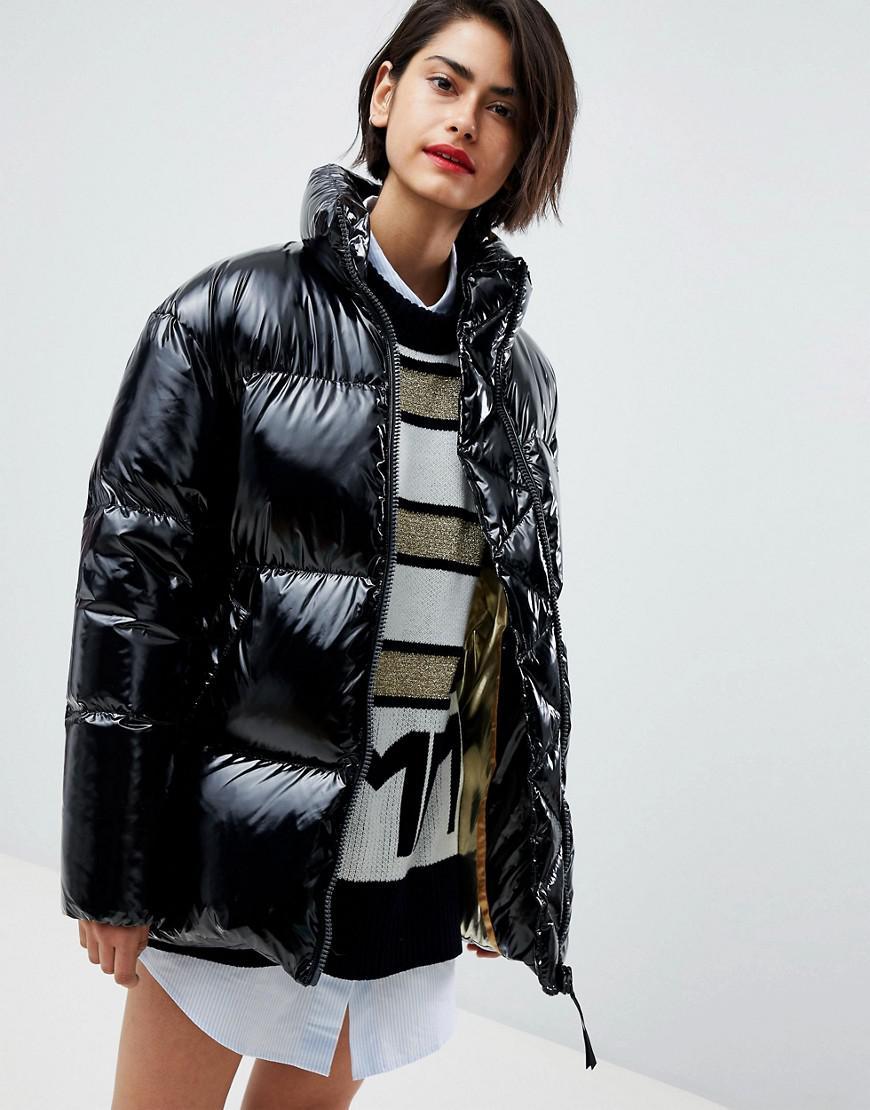 cbb5913854a Tommy Hilfiger - Black Icon High Shine Padded Jacket - Lyst. View fullscreen