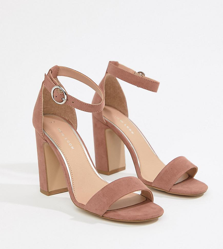 cb8648940ea New Look Block Heeled Sandals in Pink - Lyst