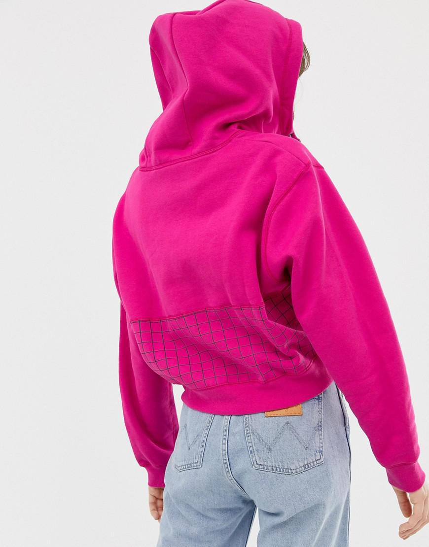 d42e63650324 Nike Archive Pink Graphic Cropped Hoodie in Pink - Lyst