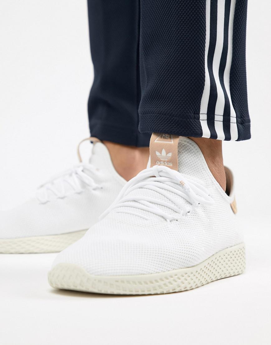 cb7164d932a79 adidas Originals Pharrell Williams Tennis Hu Sneakers In White ...