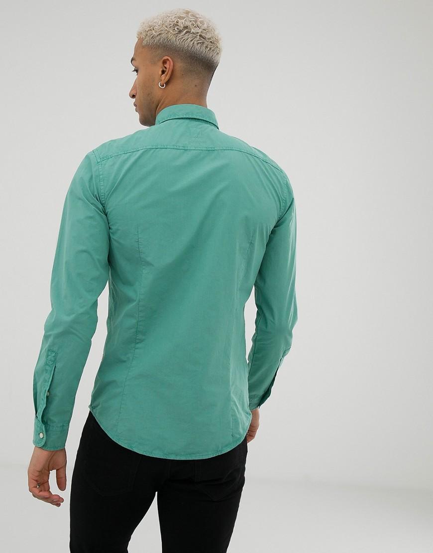 0584543d BOSS Mypop Slim Fit Poplin Shirt In Green in Green for Men - Lyst