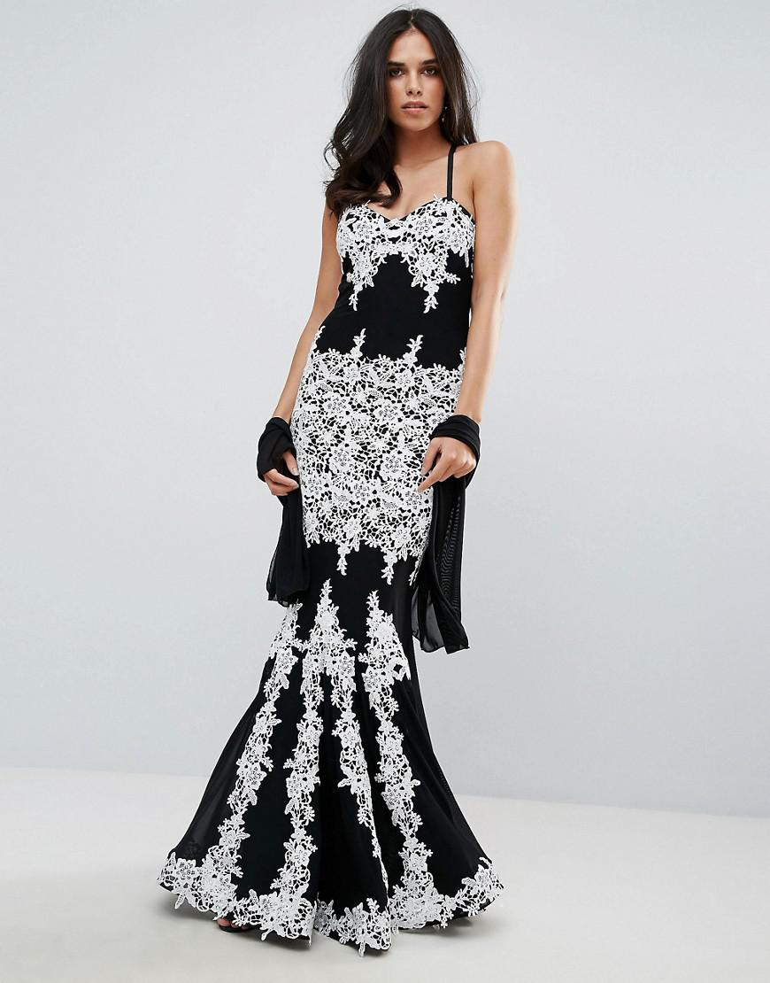Forever unique palm print maxi dress