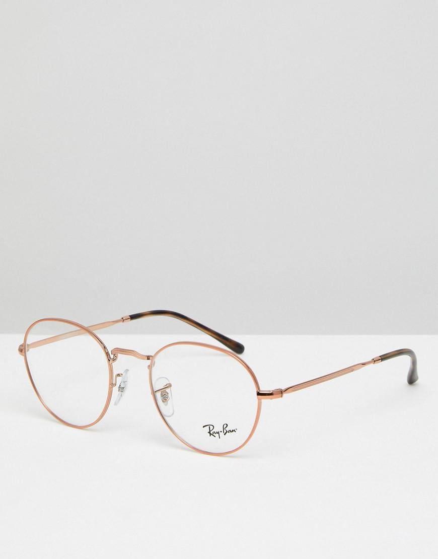 4b3bc0203a Ray-Ban 0rx3582 Round Optical Frames With Demo Lenses In Gold 49mm ...