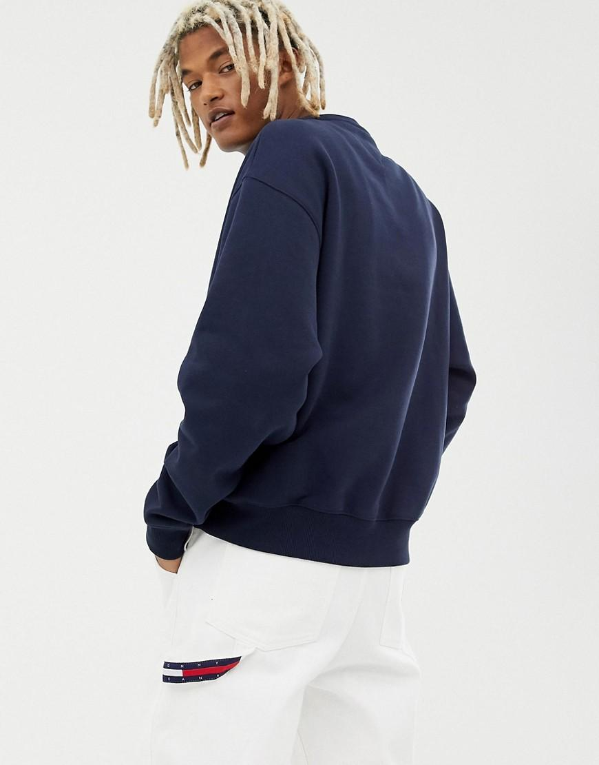3f604cfdb20c6b Tommy Hilfiger 6.0 Limited Capsule Crew Neck Sweatshirt With Crest Logo In  Navy in Blue for Men - Lyst