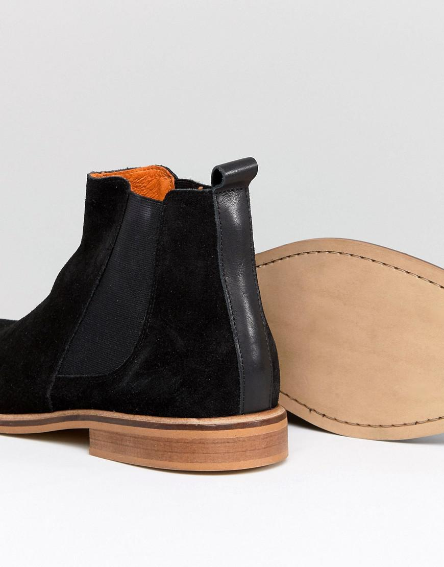 Good For Nothing Chelsea Boots In Burgundy Suede 90RL1i