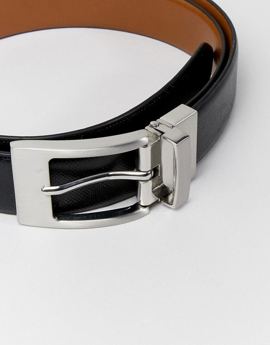 af718996f104 Moss Bros Moss London Reversible Belt In Faux Leather in Brown for Men -  Lyst