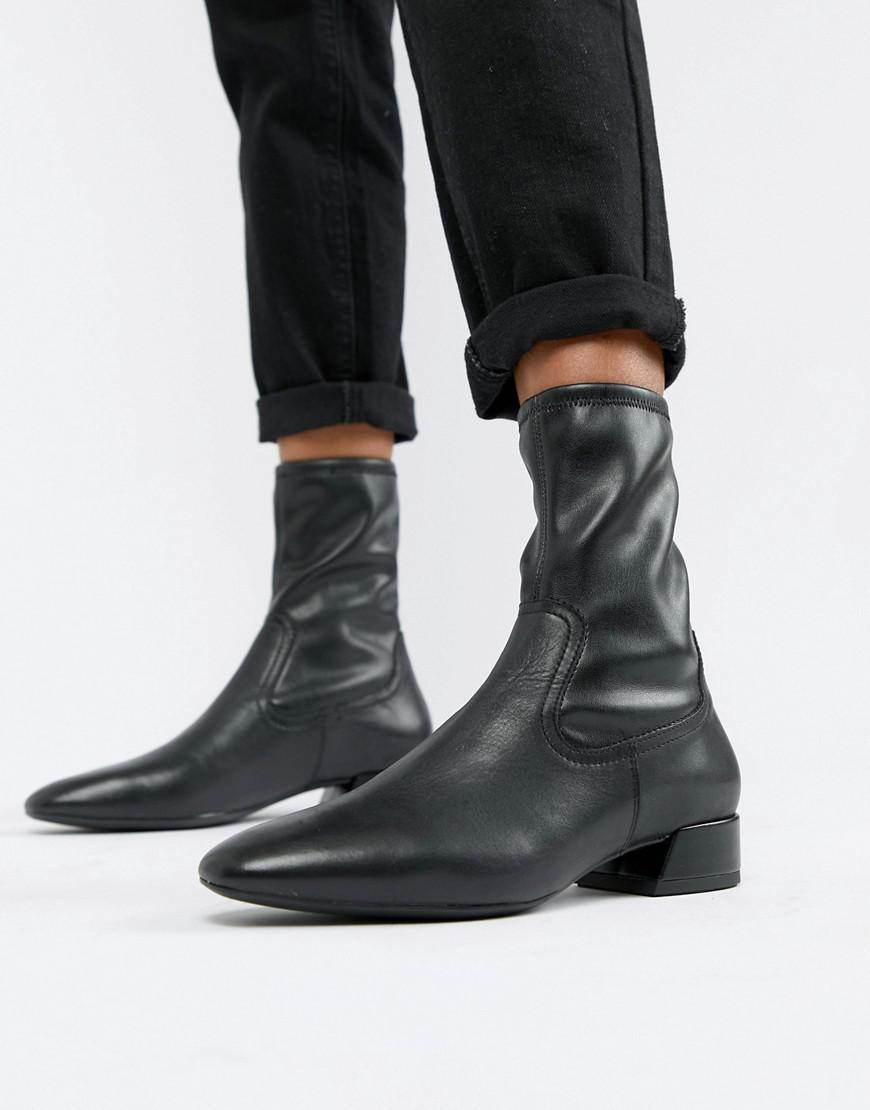 22df0a2a722f Vagabond Joyce Black Leather Pull On Pointed Boots in Black - Lyst