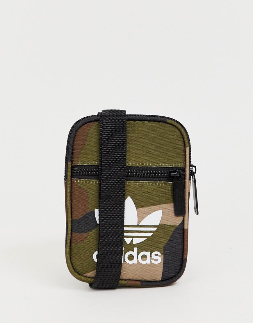 1a93138ccaa8 adidas Originals Flight Bag In Camo in Green for Men - Lyst
