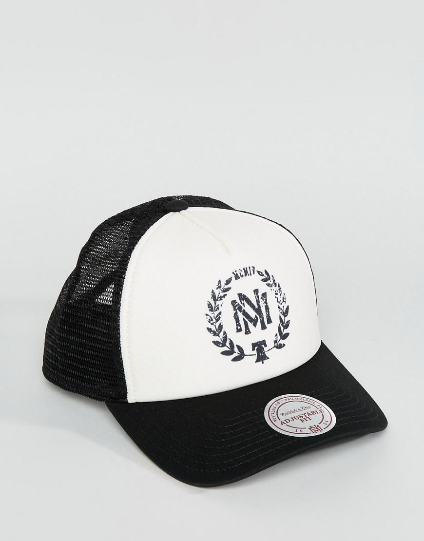 Lyst - Mitchell   Ness Distressed Trucker Cap Exclusive To Asos in ... 823ac351198