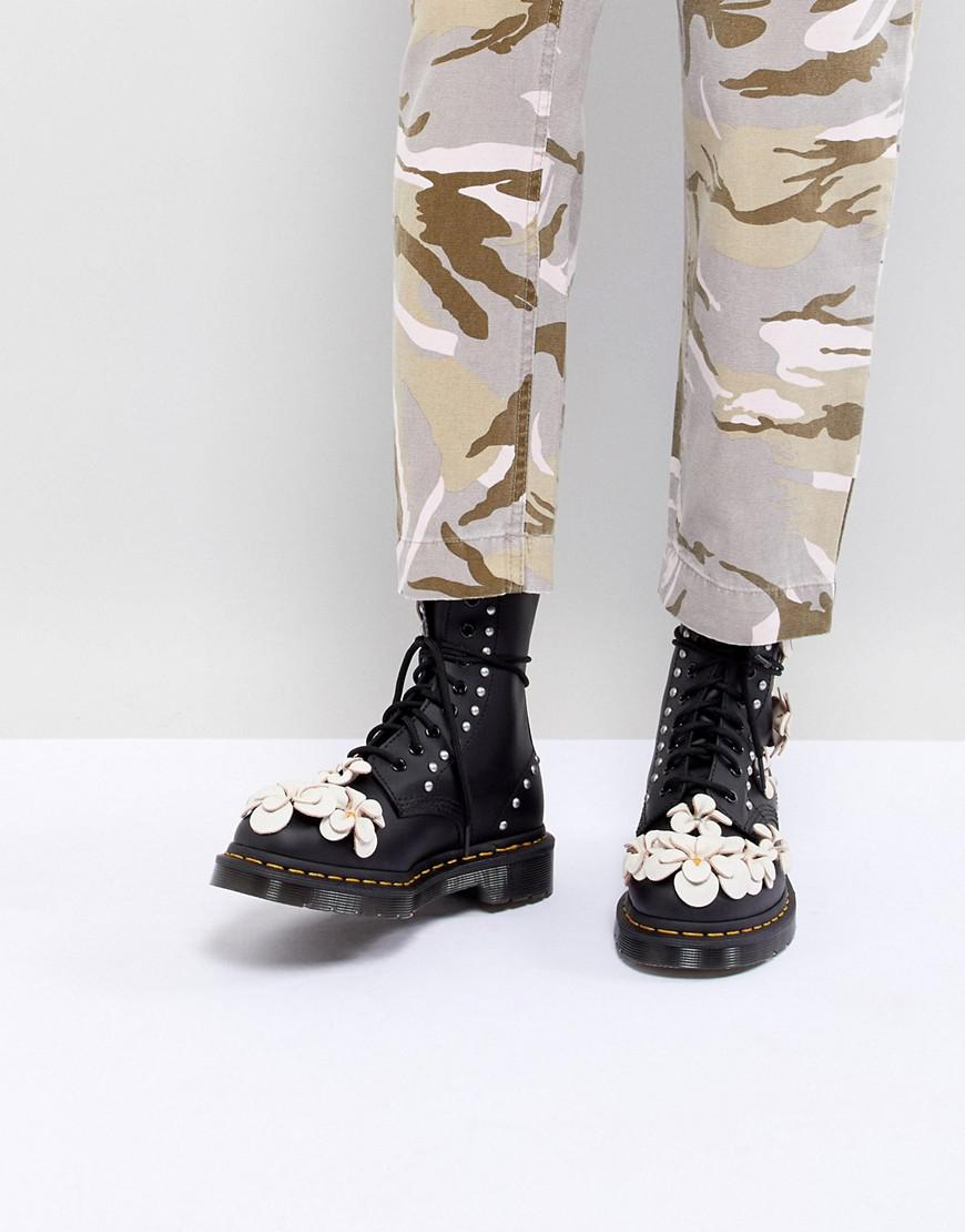 sale official site cheap best wholesale Dr Martens 3D Flower Lace Up Boots clearance with mastercard outlet big discount bYUpTqyK