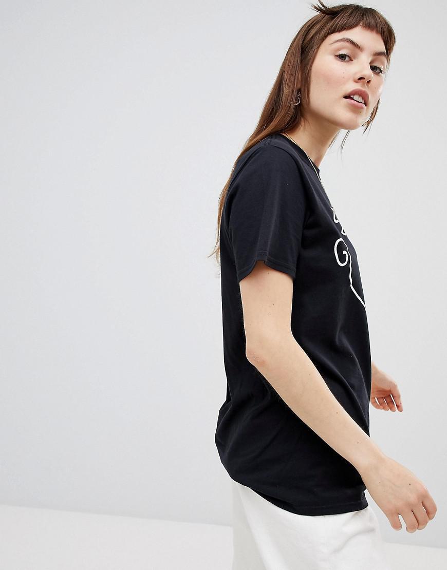4eca02d3cd3ee Lyst - T-shirt avec visages faisant des bisous Reclaimed (Vintage) en  coloris Noir