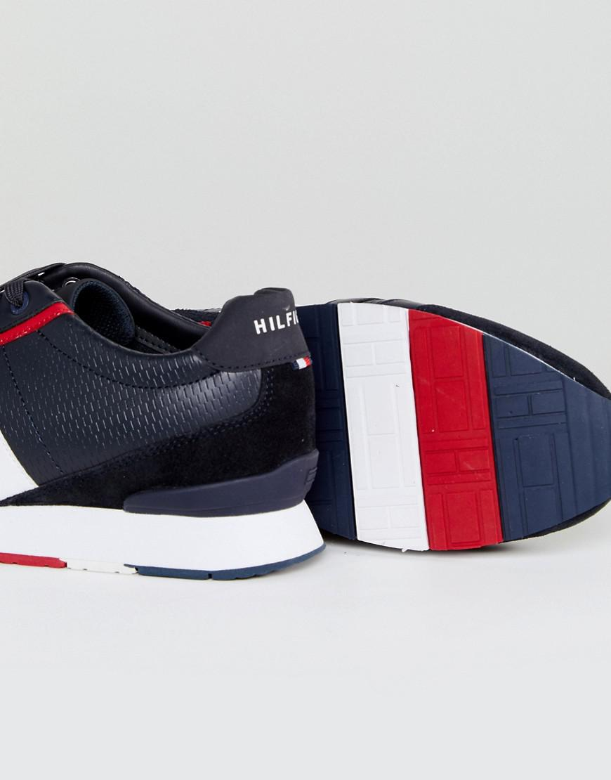 3a31087d6e77 Tommy Hilfiger Leeds Leather Trainers In Navy in Blue for Men - Lyst