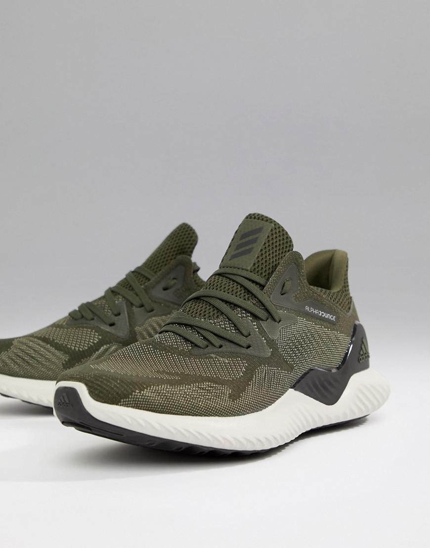 ec3be975bfeac Lyst - adidas Running Alphabounce 2 In Khaki Bw1247 in Green for Men