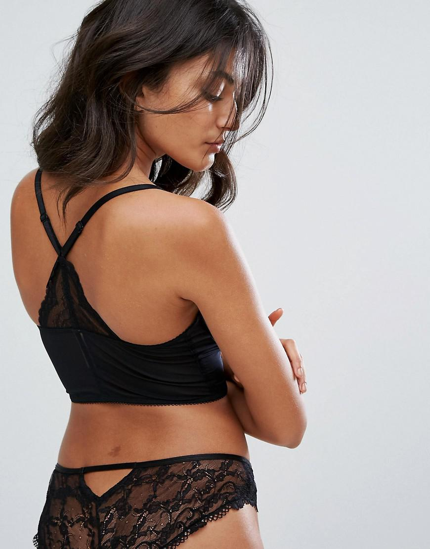 56c1c0be10 Gossard - Black Superboost Lace Deep V Bralette B-g Cup - Lyst. View  fullscreen